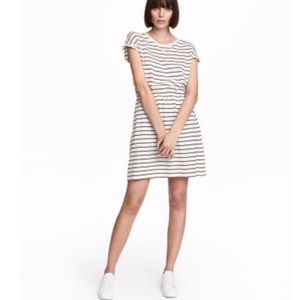 H&M Navy and White Striped Casual Dress